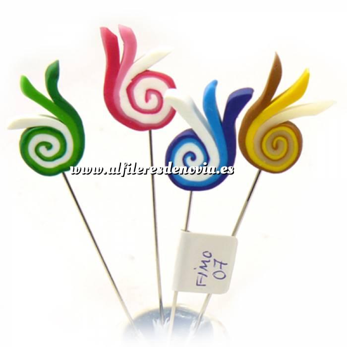 Imagen Alfileres fimo Alfiler clásico Fimo 07 (tulipanes colores)