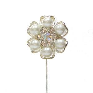 Alfileres especiales - Alfiler Especial 42 (perla- flor plata)