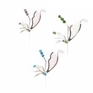 Alfileres especiales - Alfiler Especial 54 (alfiler libélula) - COLORES DE PIEDRAS SURTIDOS (BLANCO más AZUL más VERDE) (Últimas Unidades)